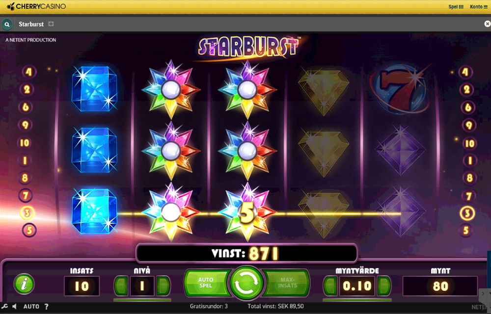 Starburst i Cherry Casino